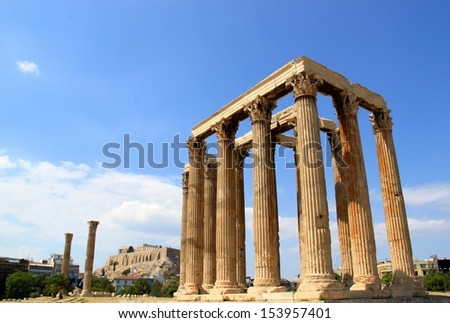 Temple of Zues - stock photo
