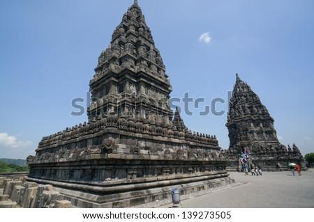 Temple Prambanan - Yogyakarta, Java - stock photo