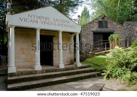 Temple recreation at Vindolanda Roman fort in England