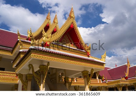 Temple roof in Thailand
