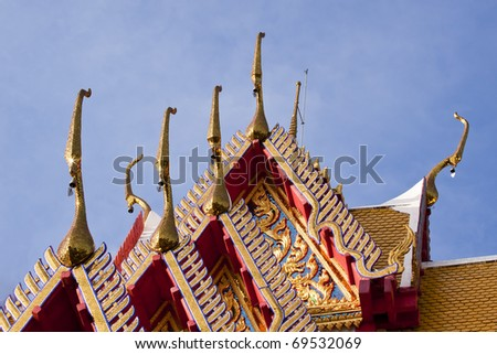 Temple roof 's in Thailand