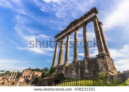 Temple Ruins in the Forum, Rome