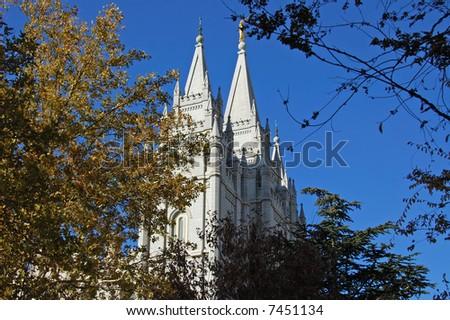 Temple Square, Salt Lake City, Utah - stock photo