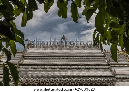 Temple, temple or monastery is a Buddhist monastery in Thailand, Cambodia and Laos as that of a monk. And of worship of Buddhists The temple is a Buddhist temple - stock photo