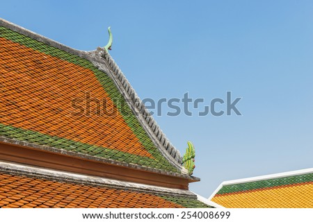 Temple,Thai classic arts,Gable apex - stock photo