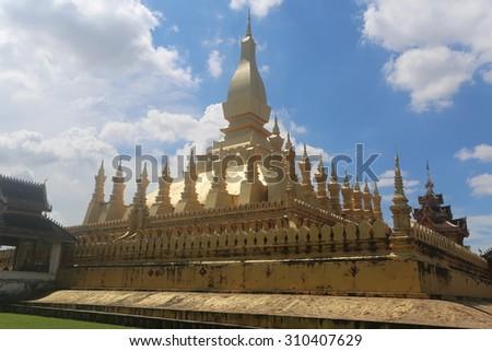 temple VIENTIANE, LAOS - stock photo