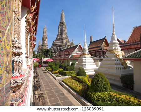 temple Wat Arun in Bangkok. - stock photo