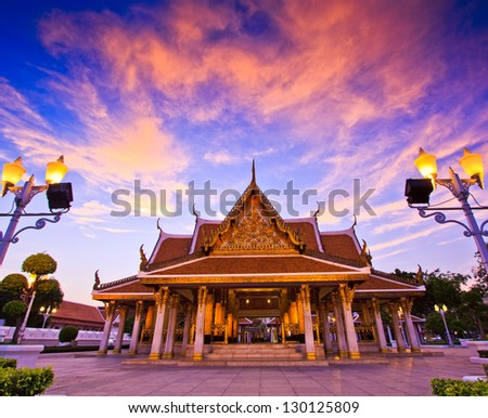 Temple wat in bangkok thailand - stock photo