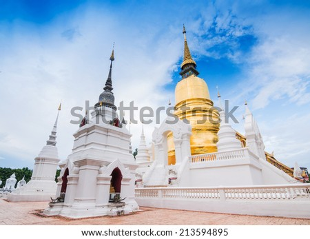 Temple Wat Suan Dok (monastery) in Chiang Mai , Thailand.   - stock photo