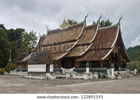 Temple Wat Xieng Thong in Luang Prabang, Laos - stock photo