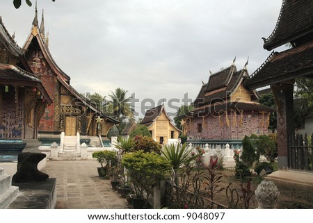 templels in lao - stock photo