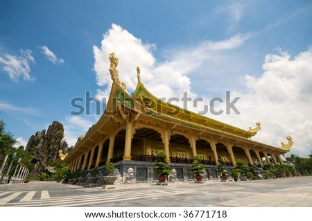 Temples and Safari Park in Vietnam - stock photo