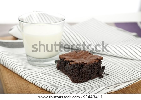 Tempting chocolate brownie treat, moist and delicious.