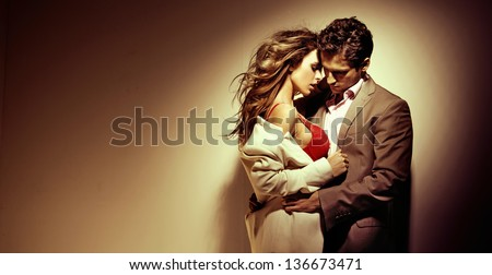 Temptress woman - stock photo