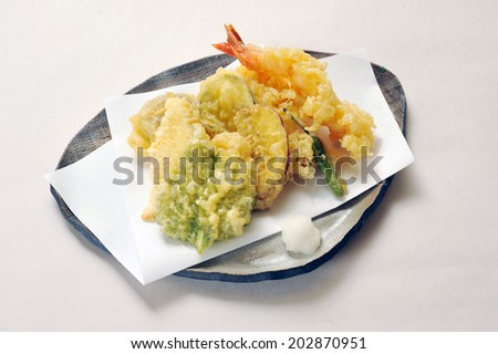 Tempura , Japanese Food - stock photo