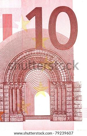 Ten euro - stock photo