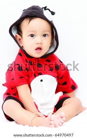 Ten months Asian baby boy - stock photo