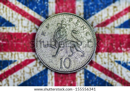 Ten Pence - stock photo