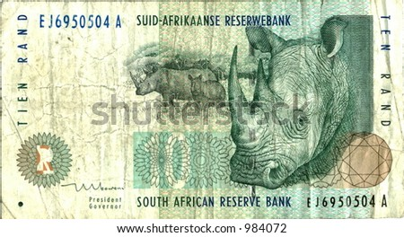 Ten South African Rand - stock photo