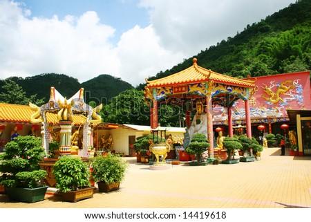Ten thousands buddhas monastery - stock photo