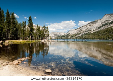 tenaya lake in yosemite national park, california, usa - stock photo