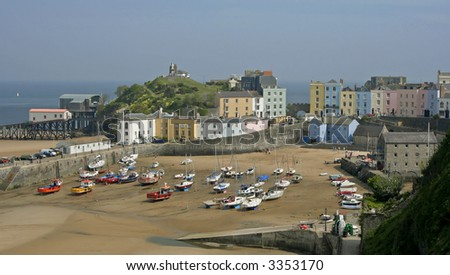 Tenby Harbour - south Wales UK - stock photo