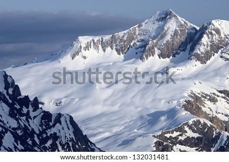 Tendenera peak in the Tena Valley, Pyrenees, Panticosa, Huesca, Aragon, Spain - stock photo