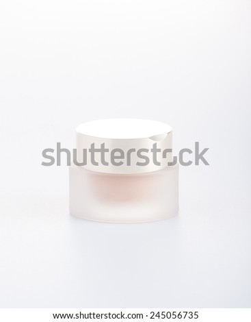 tender jar of cream with a matte cover , on a white background - stock photo