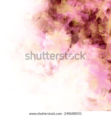 Tender lilac, pink and white spring background, fancy flowers, fabric texture - stock photo