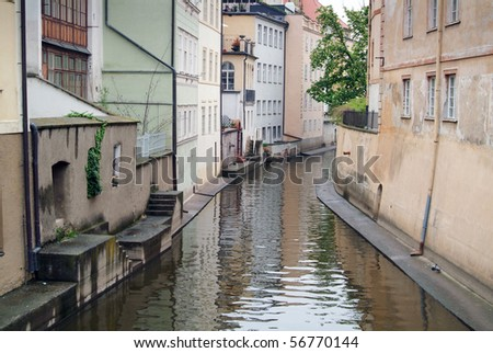 Tenement house at Venice. Water canal. - stock photo