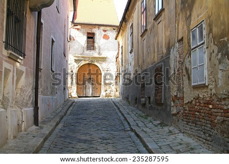 Tenement houses at Bratislava Old City  - stock photo
