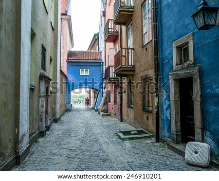 Tenement houses on Old Town in Warsaw, Poland - stock photo