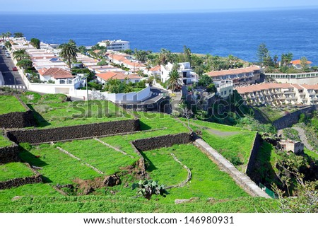 Tenerife apartment by Puerto de la Cruz, Spain - stock photo