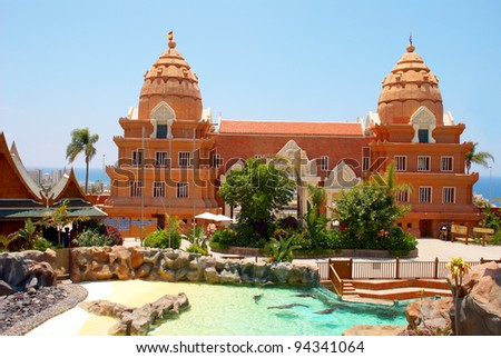 TENERIFE ISLAND, SPAIN - MAY 17: Siam Park on May 17, 2010 in Tenerife, Spain. Siam Park, the water kingdom opened its doors in 2008. The park covers 185,000m2 of natural landscapes