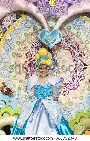 TENERIFE, JANUARY 24: In The carnival the Santa Cruz de Tenerife, during different contests of Carnival groups. JANUARY 24, 2016, Tenerife (Canary Islands) Spain.