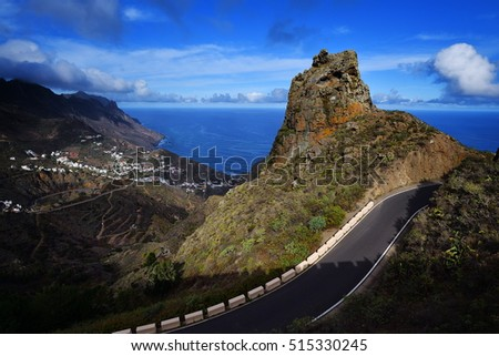 Tenerife - the scenic village of Taganana in the Anaga mountain range of Tenerife, Canary Islands