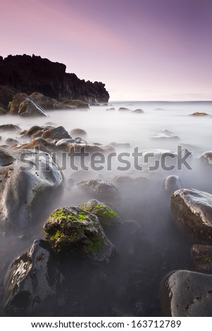 Tenesar beach in Lanzarote, Canary Islands, Spain - stock photo