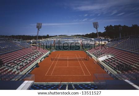 Tenis stadium in Umag - Croatia - stock photo