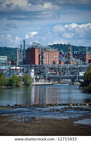Tennessee Eastman plant on the Holston River - stock photo
