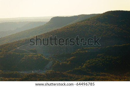 Tennessee River Gorge - stock photo