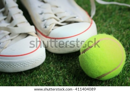 tennis and white sneakers