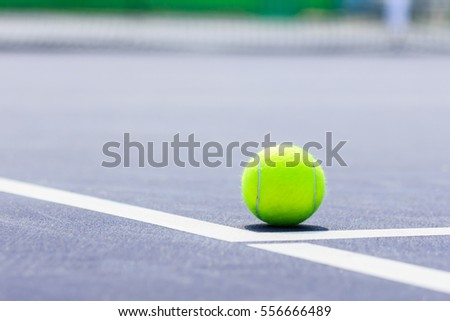 tennis ball close up on  court