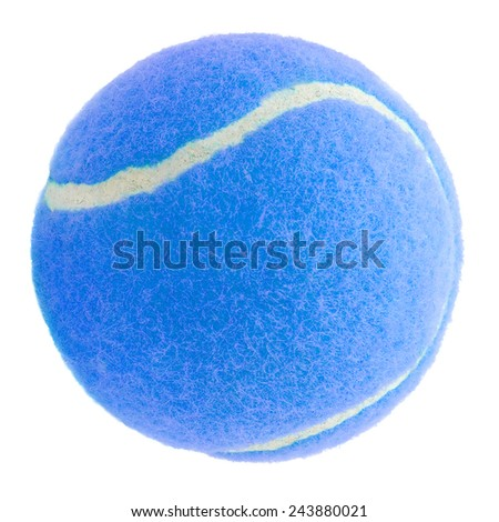 Tennis ball in blue color  - stock photo
