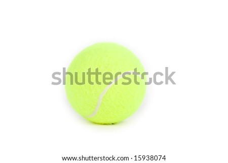 tennis ball in white