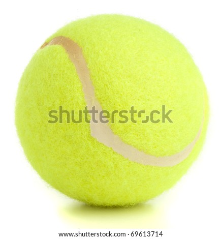 tennis ball isolated on a white background - stock photo