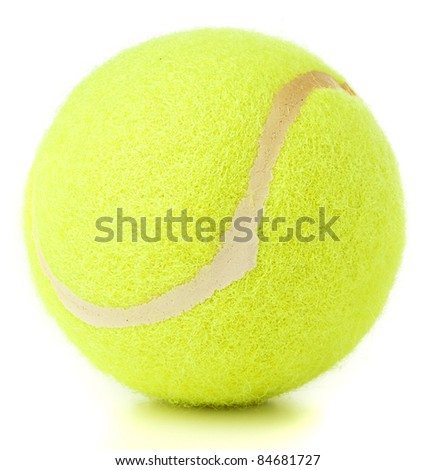 tennis ball isolated on a white background