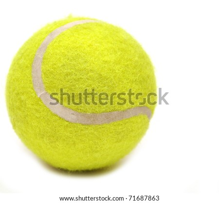 Tennis ball isolated on white - stock photo