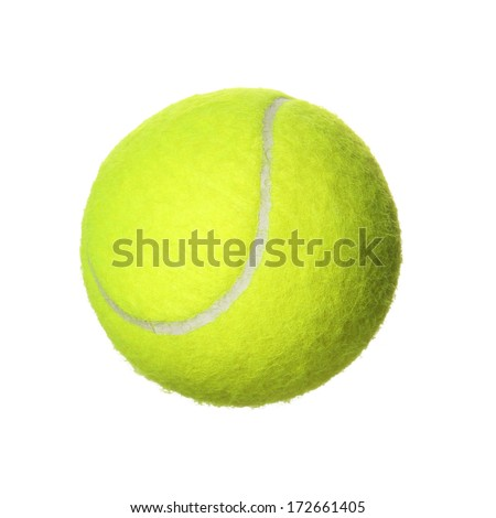 Tennis Ball isolated on white background. Closeup