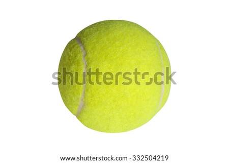 tennis ball isolated on white - stock photo - stock photo