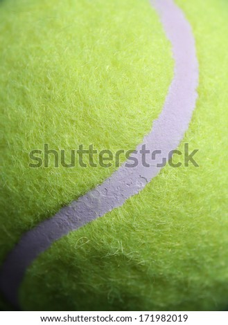 Tennis Ball Line Close Up for Sports Background - stock photo